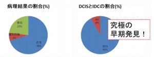 癌の割合、DCISの割合-2